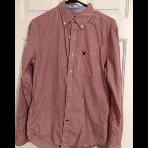 Men's small American Eagle long sleeve dress shirt
